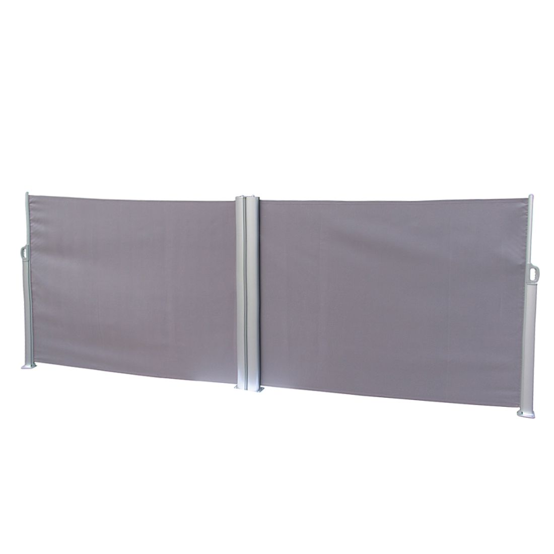 Doppel-Seitenmarkise Rush - Aluminium/Polyester - Anthrazit, Leco