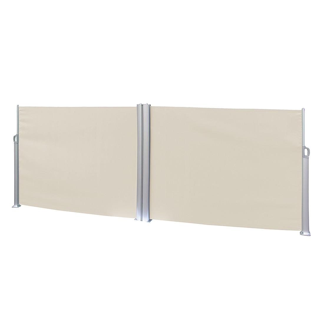 Doppel-Seitenmarkise Rush - Aluminium/Polyester - Natur, Leco