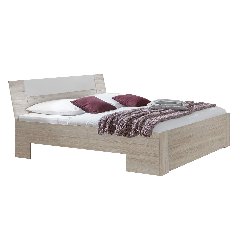 Doppelbett Struge – Eiche Sägerau Dekor/Alpinweiß – 140 x 200cm – Kein Bettkasten, Wimex günstig online kaufen