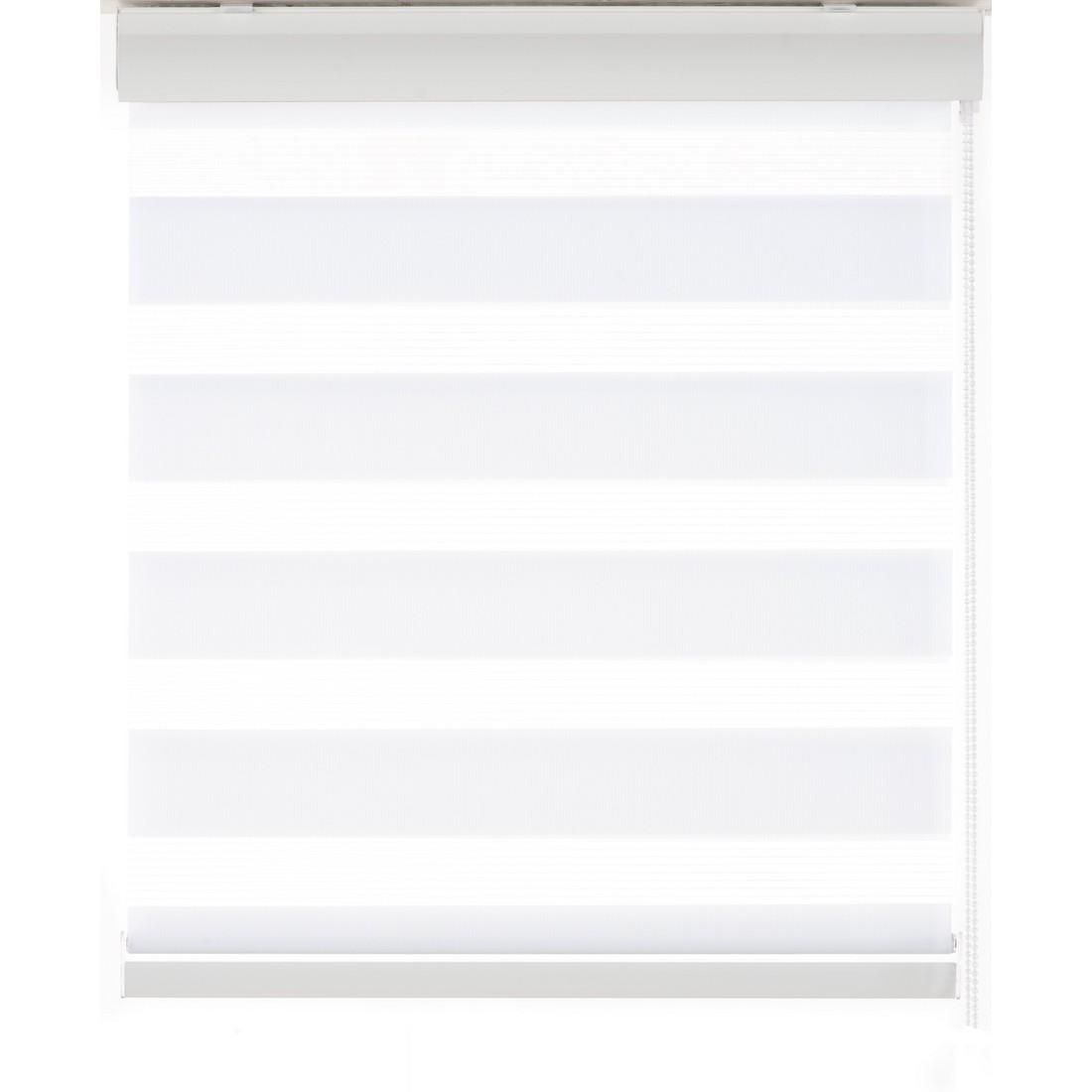 Doppelrollo London (Breite 100-200 cm) – mit Blende – Weiß – Breite: 160 cm Höhe: 240 cm, Sandega kaufen