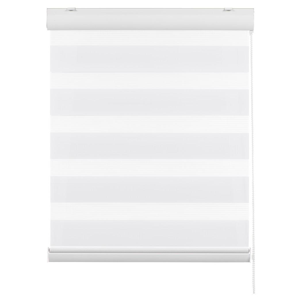 Doppelrollo London (Breite bis 100 cm) – mit Blende – Weiß – Breite: 60 cm Höhe: 240 cm, Sandega online kaufen