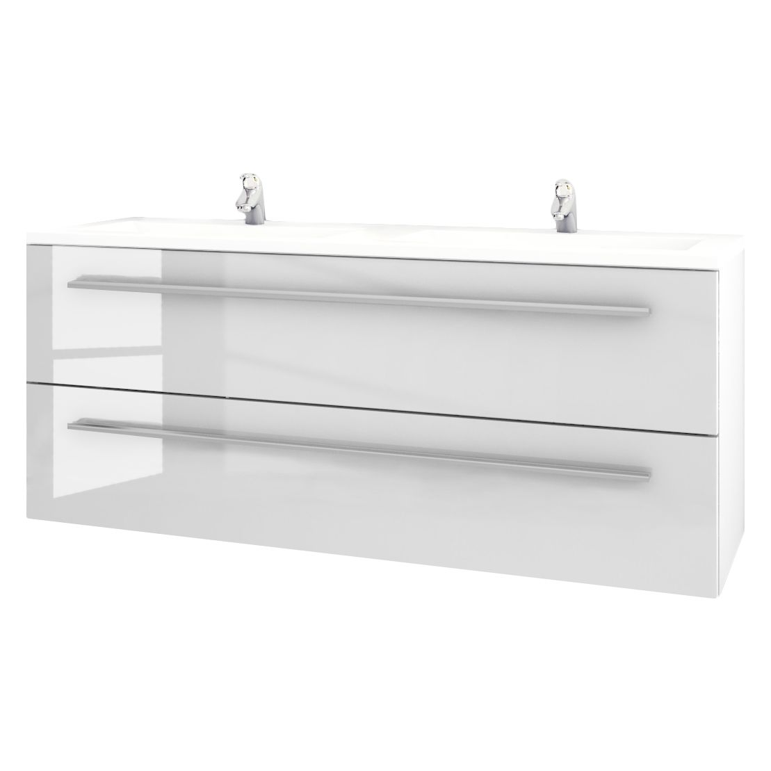 Doppelwaschtisch Libato - Weiß - 120 cm, Sieper