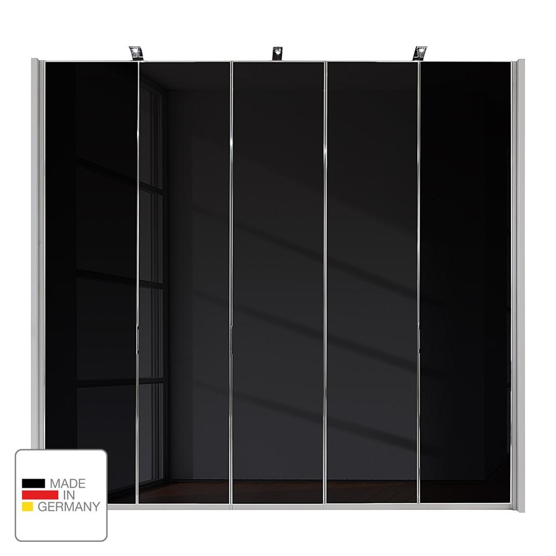 Drehtürenschrank Amsterdam – Silber/Graphit – LED-Beleuchtung – 400 cm (8-türig) – 216 cm – 8 Glastüren, Althoff jetzt bestellen