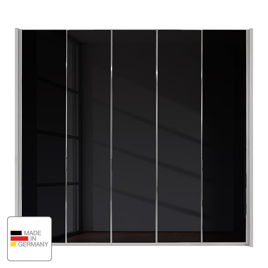 Drehtürenschrank Amsterdam – Silber/Graphit – Ohne Beleuchtung – 350 cm (7-türig) – 216 cm – 7 Glastüren, Althoff kaufen