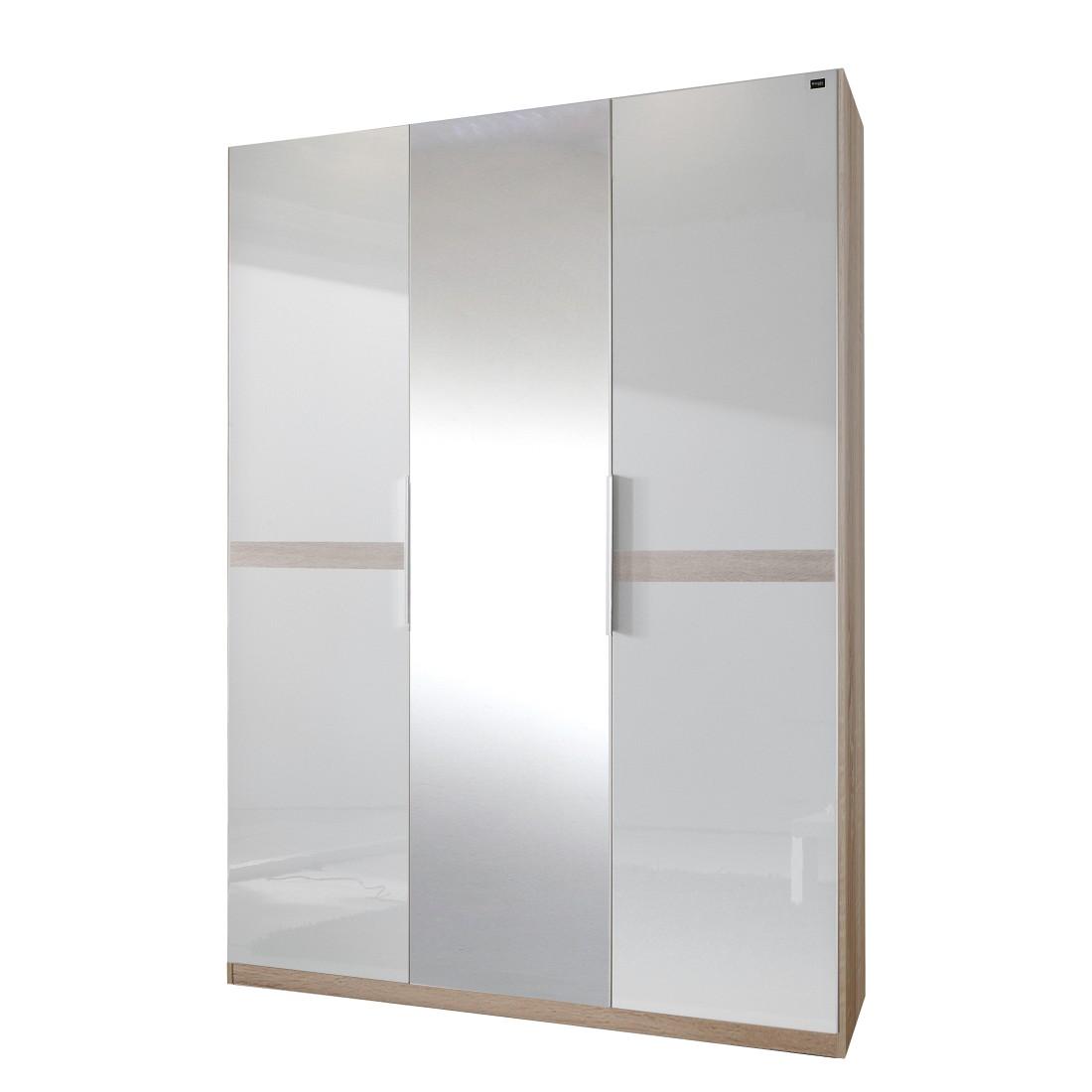 dreht renschrank add on b mit spiegel perlglanz softwhite eiche s gerau schrankbreite 200. Black Bedroom Furniture Sets. Home Design Ideas