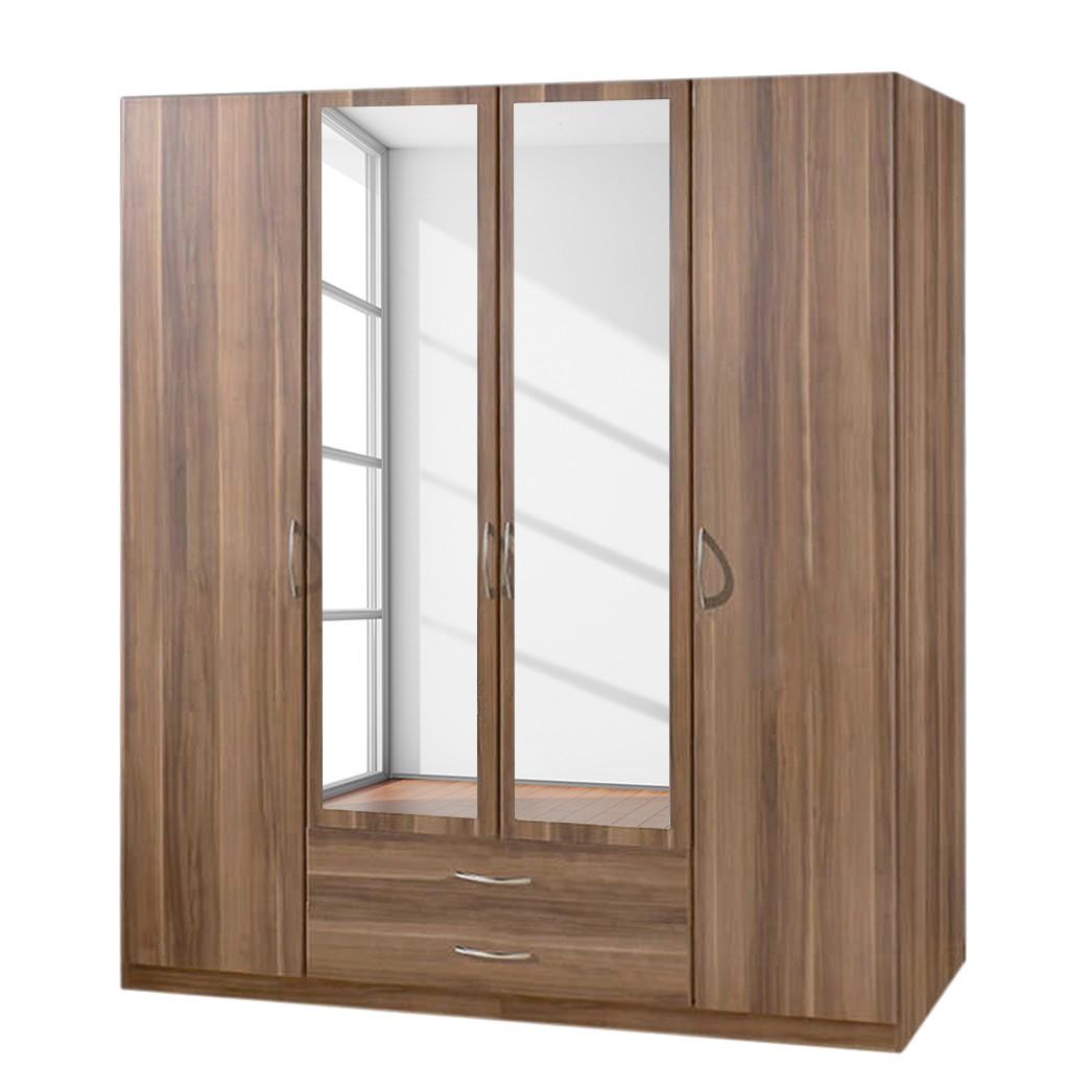 dreht renschrank sprint deluxe mit spiegel franz sisch nussbaum deko breite 180 cm mit. Black Bedroom Furniture Sets. Home Design Ideas