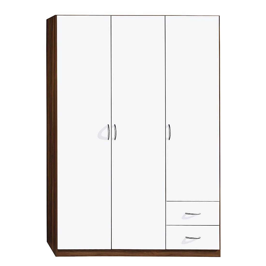Drehtürenschrank Case II – Alpinweiß/Kernnuss Dekor – Schrankbreite: 91 cm – 2-türig – Standard Plus, Rauch Pack´s günstig kaufen