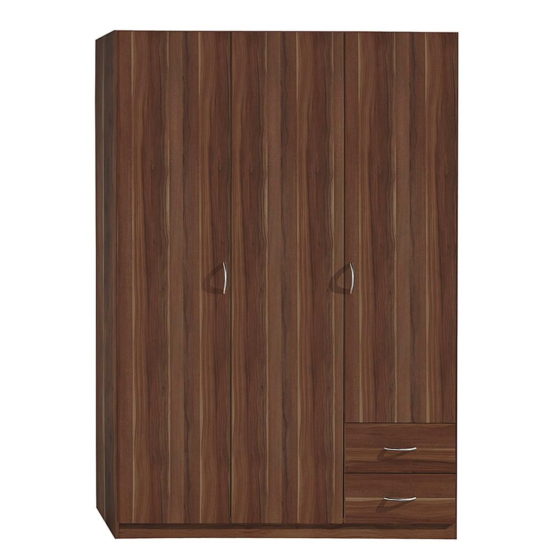 dreht renschrank case ii kernnuss dekor schrankbreite 135 cm 3 t rig standard schrank. Black Bedroom Furniture Sets. Home Design Ideas