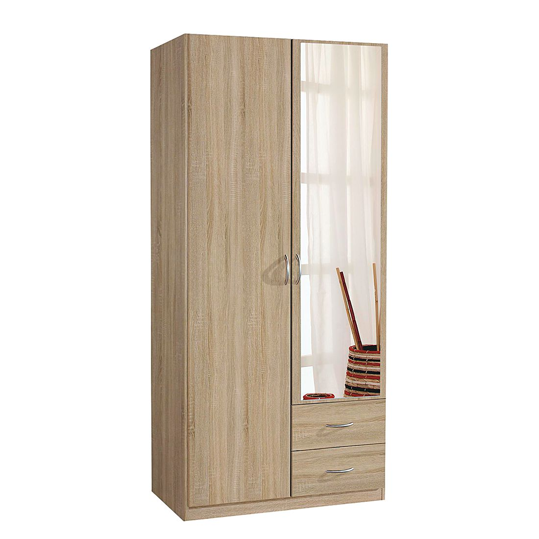 dreht renschrank case iii sonoma eiche dekor schrankbreite 91 cm 2 t rig. Black Bedroom Furniture Sets. Home Design Ideas