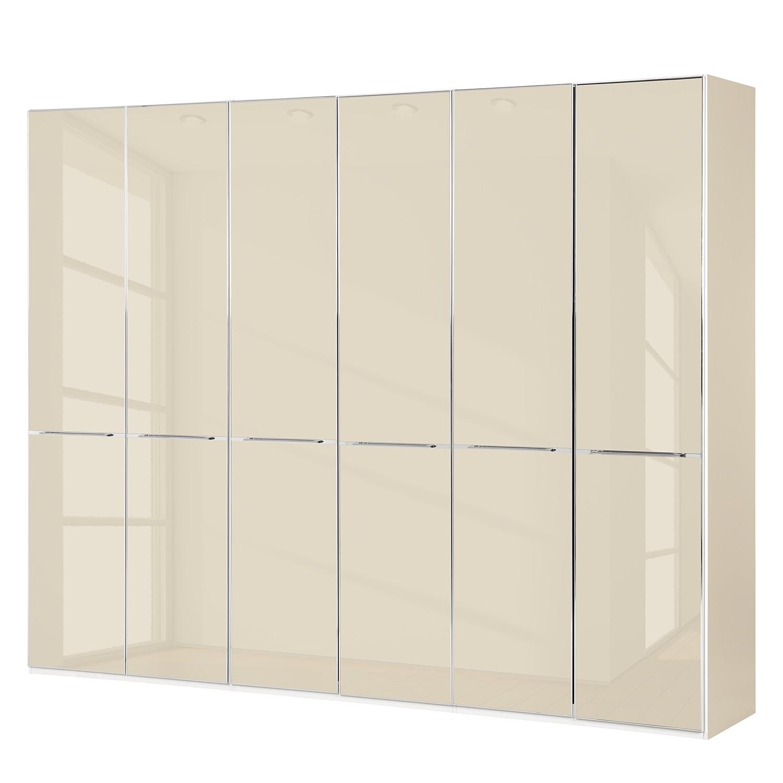 Drehtürenschrank Chicago I - Glas Magnolie - 300 cm (6-türig) - 216 cm, Althoff