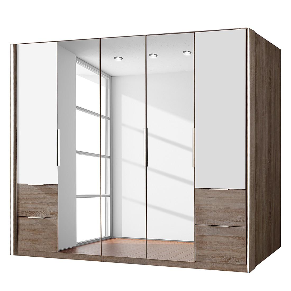 dreht renschrank event montana eiche dekor spiegel schrankbreite 250 cm 5 t rig schrank. Black Bedroom Furniture Sets. Home Design Ideas