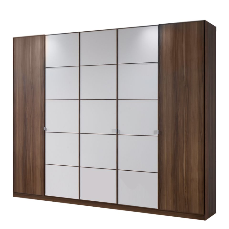 dreht renschrank gino walnuss dekor wei sprossenmuster breite 200 cm. Black Bedroom Furniture Sets. Home Design Ideas