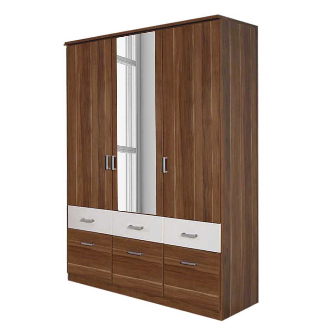 dreht renschrank kombischrank bremen extra kernnuss dekor alpinwei breite 91 cm 2 t rig. Black Bedroom Furniture Sets. Home Design Ideas