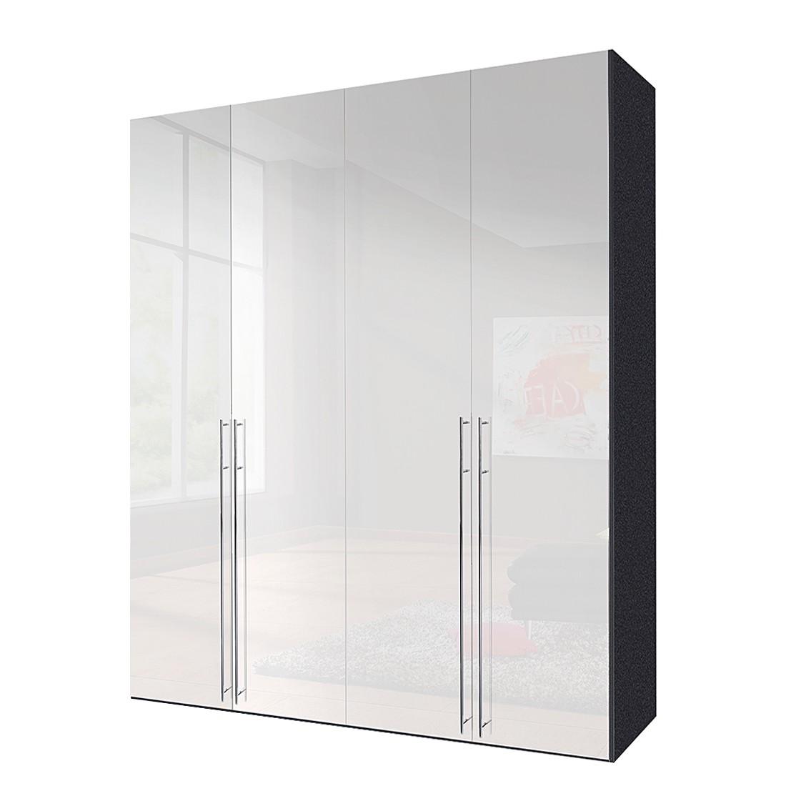 Drehtürenschrank Melva – Graphit/Weißlack – BxH: 300 x 216 cm – 6-türig, Solutions günstig online kaufen