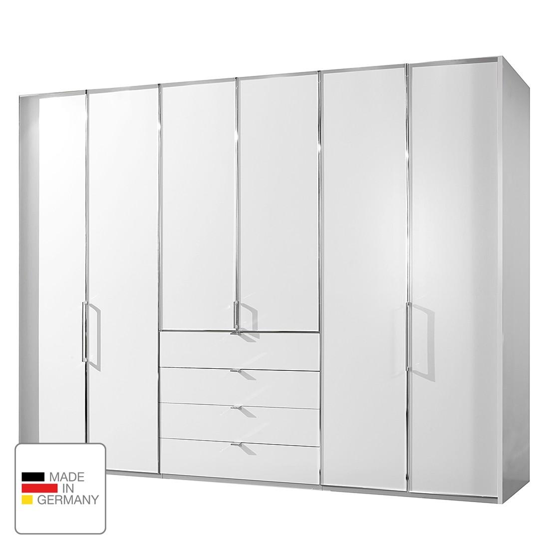Drehtürenschrank Monza - Alpinweiß - Ohne Beleuchtung - 200 cm (4-türig) - 216 cm - Ohne Passepartoutrahmen, Althoff