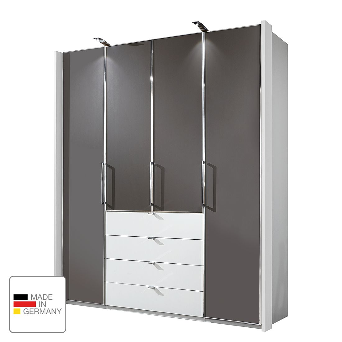 dreht renschrank monza ii alpinwei havanna led. Black Bedroom Furniture Sets. Home Design Ideas