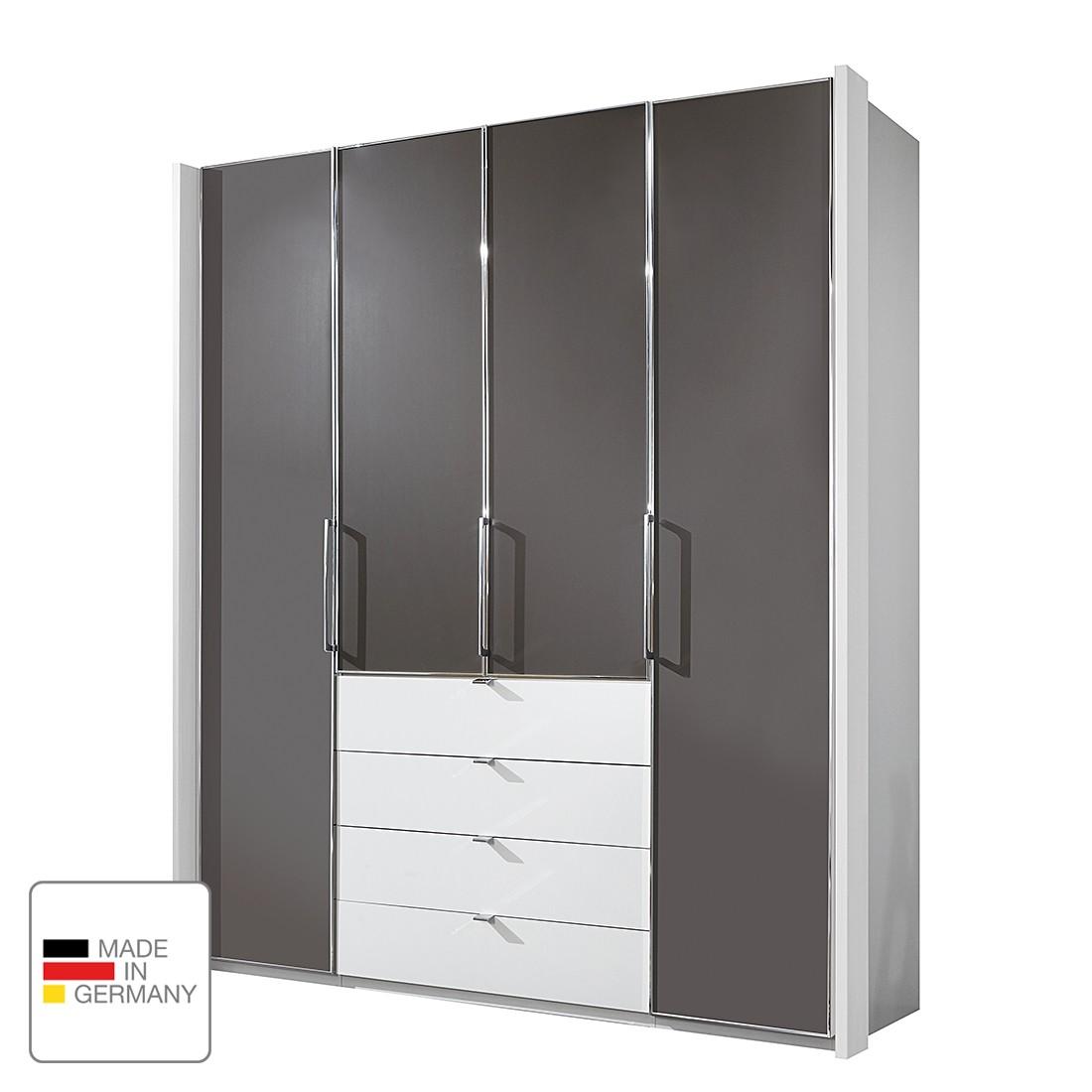Drehtürenschrank Monza II – Alpinweiß/Havanna – Ohne Beleuchtung – 300 cm (6-türig) – 236 cm, Althoff bestellen