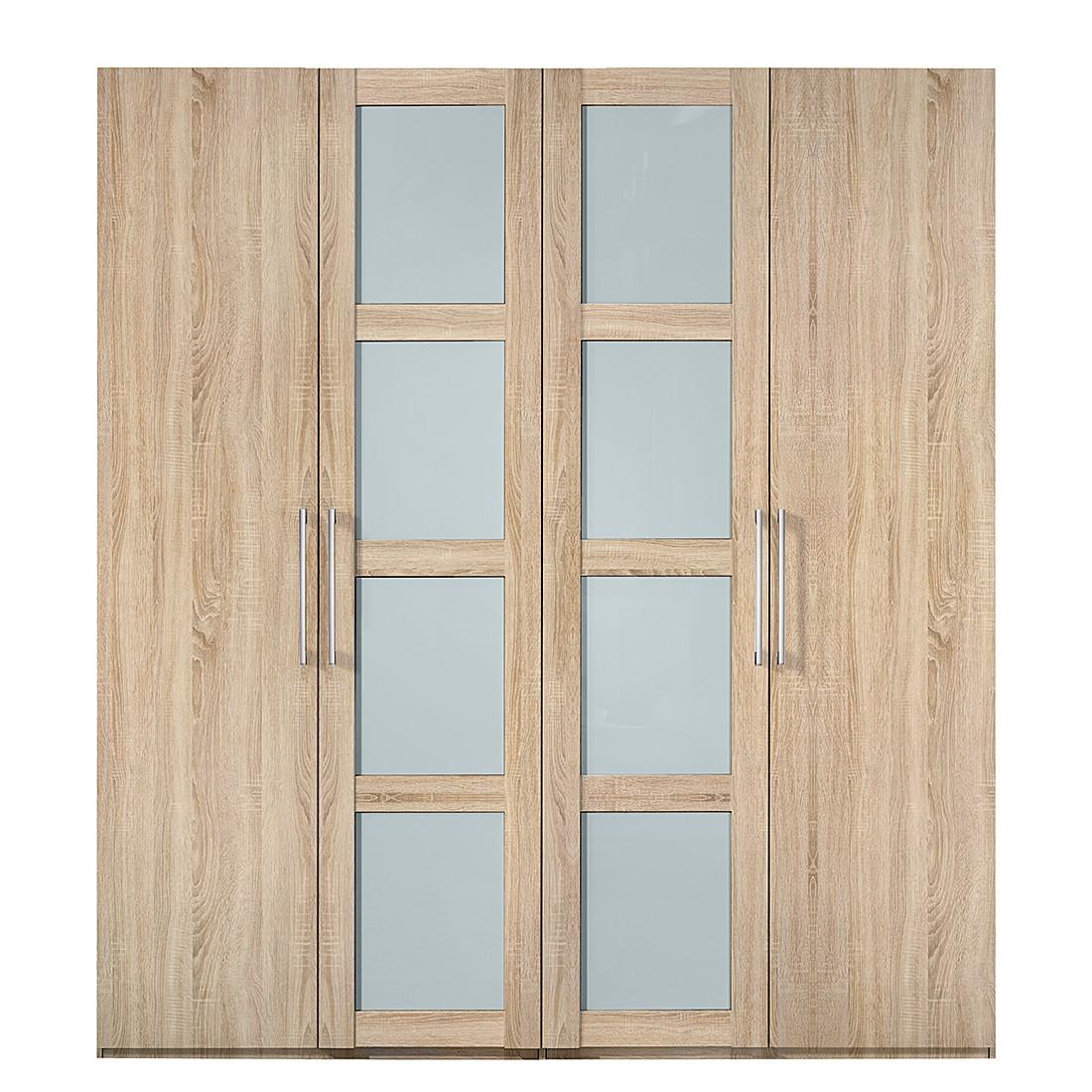 Drehtürenschrank Multimatch – Eiche Dekor/Glas – Höhe 213 cm, Breite: 302 cm – 6-türig, Arte M online bestellen