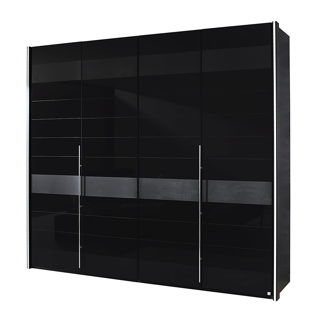 dreht renschrank nala glasfront schwarz absetzungen in grau matt schrankbreite 181 cm mit. Black Bedroom Furniture Sets. Home Design Ideas