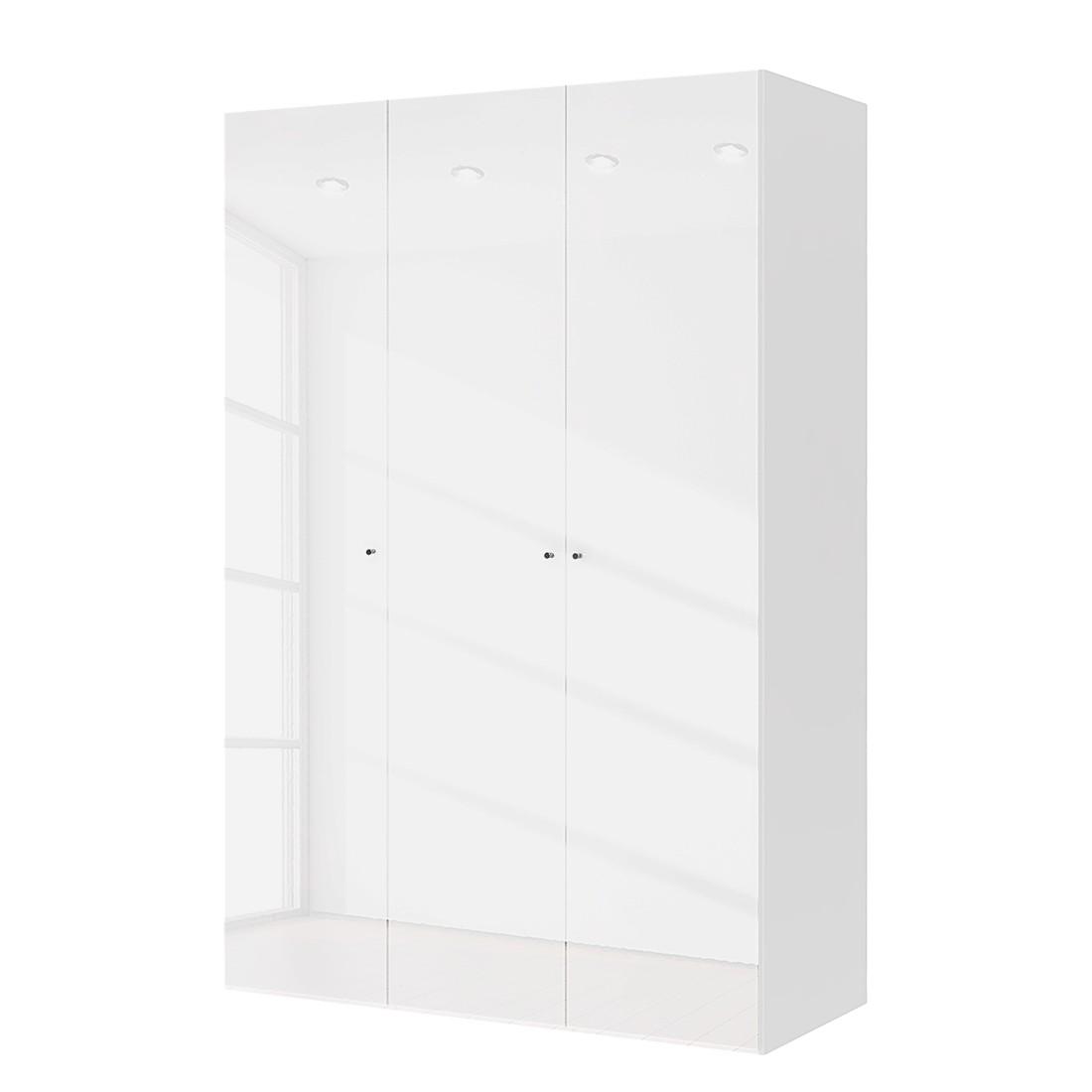 Drehtürenschrank Save – Hochglanz Weiß – 150 cm (3-türig) – Ohne Spiegeltür/-en, mooved bestellen