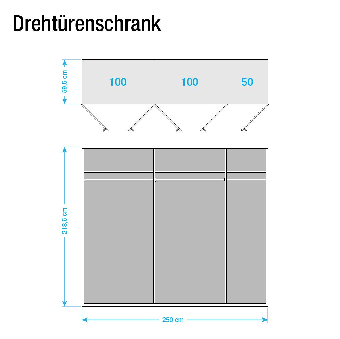 dreht renschrank save hochglanz wei 250 cm 5 t rig. Black Bedroom Furniture Sets. Home Design Ideas