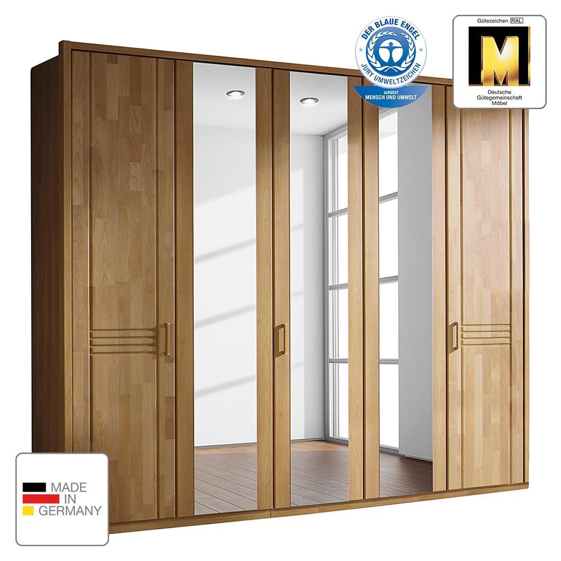 Drehtürenschrank Savina – Wildeiche – 282 cm (6-türig) – 2 Spiegeltüren – Mit Passpartoutrahmen, Rauch Steffen jetzt bestellen