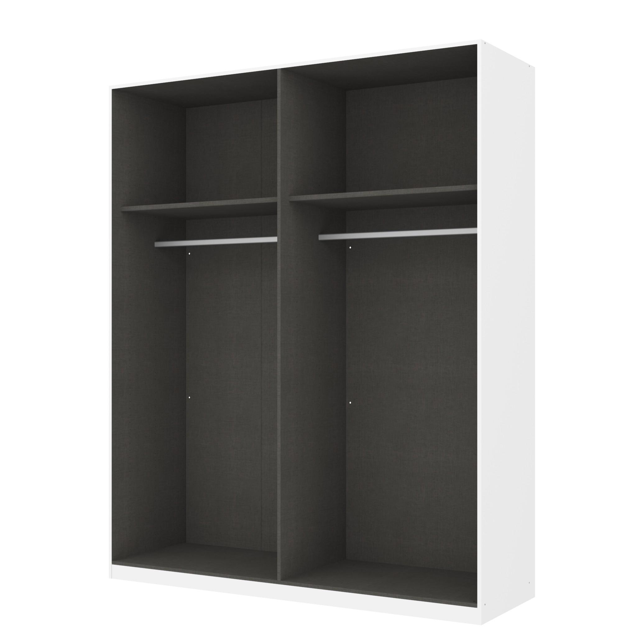 Kleiderschrank SKØP – Alpinweiß/ Offen – 181 cm (4-türig) – 222 cm – Premium, SKØP online bestellen