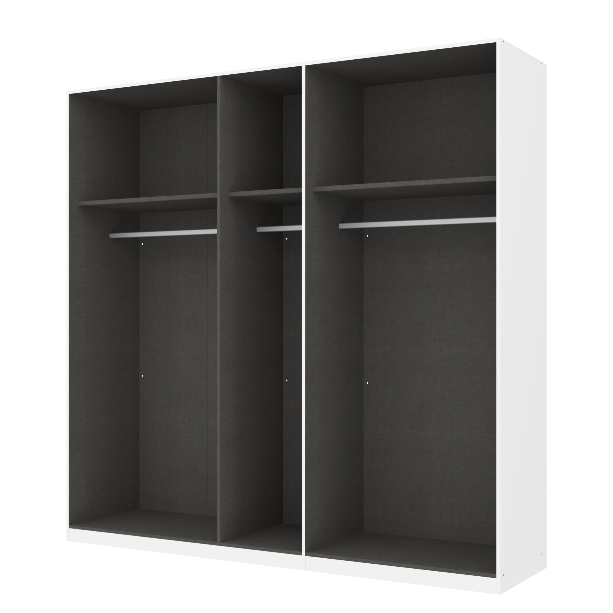 Kleiderschrank SKØP – Alpinweiß/ Offen – 225 cm (5-türig) – 222 cm – Premium, SKØP günstig kaufen