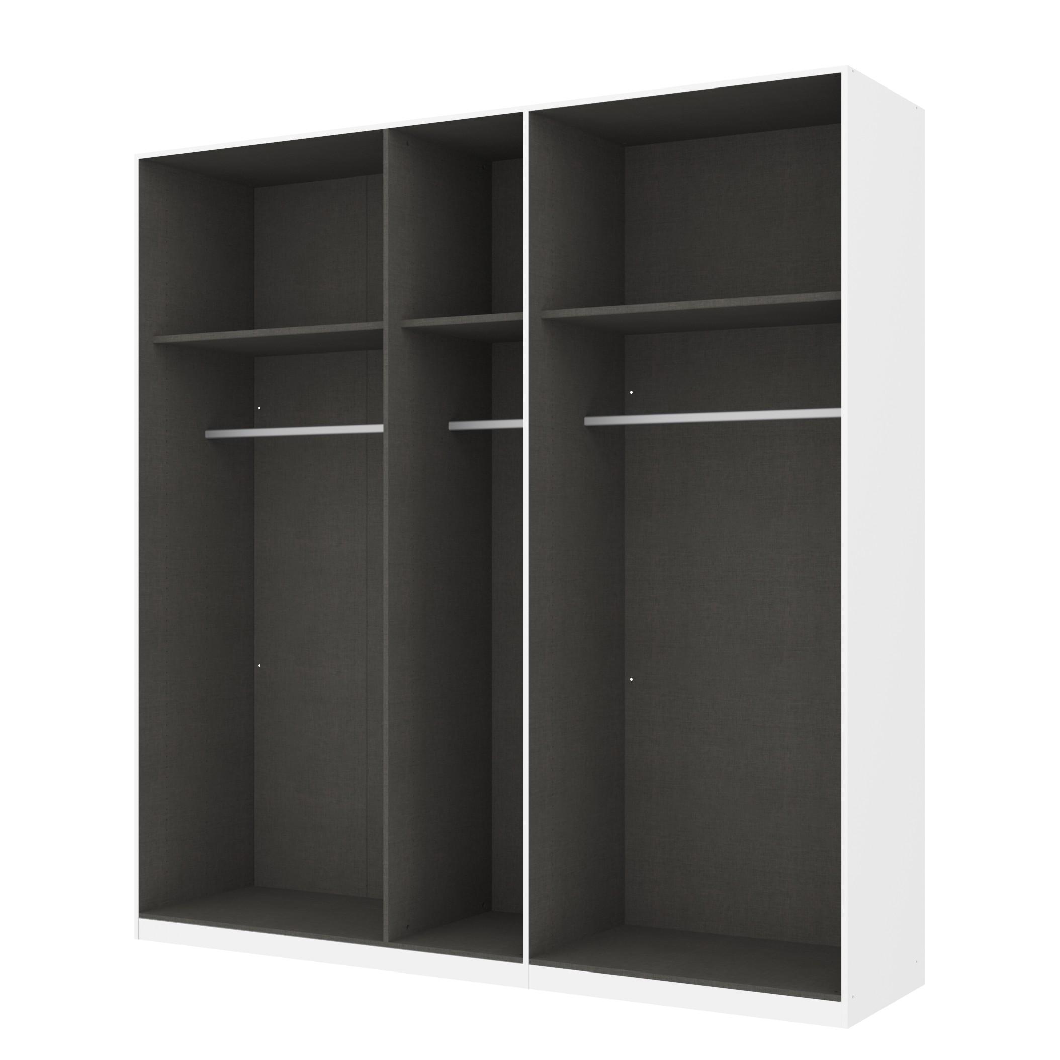 Kleiderschrank SKØP – Alpinweiß/ Offen – 225 cm (5-türig) – 236 cm – Premium, SKØP online kaufen