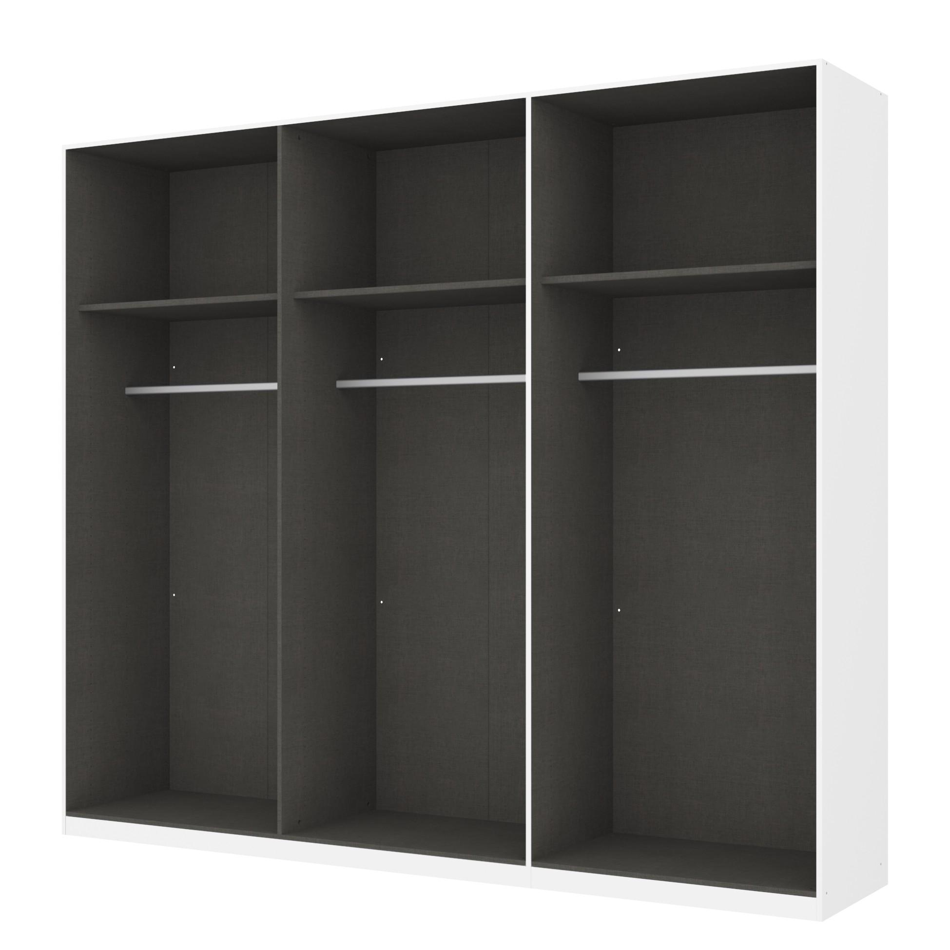 Kleiderschrank SKØP – Alpinweiß/ Offen – 270 cm (6-türig) – 236 cm – Comfort, SKØP jetzt bestellen