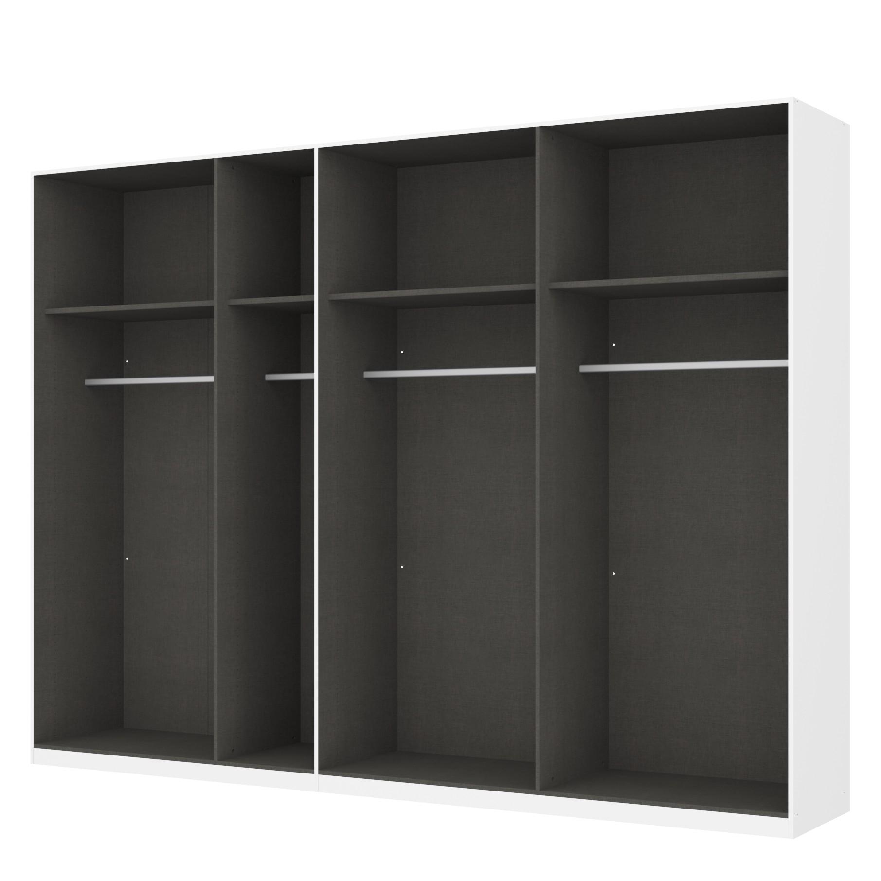 Kleiderschrank SKØP – Alpinweiß/ Offen – 315 cm (7-türig) – 236 cm – Classic, SKØP online bestellen