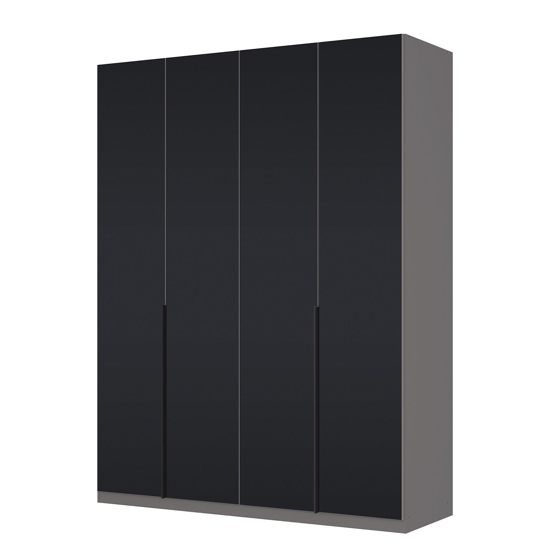 Draaideurkast Skøp I - grafietkleurig/zwart mat glas - 181cm (4-deurs ...