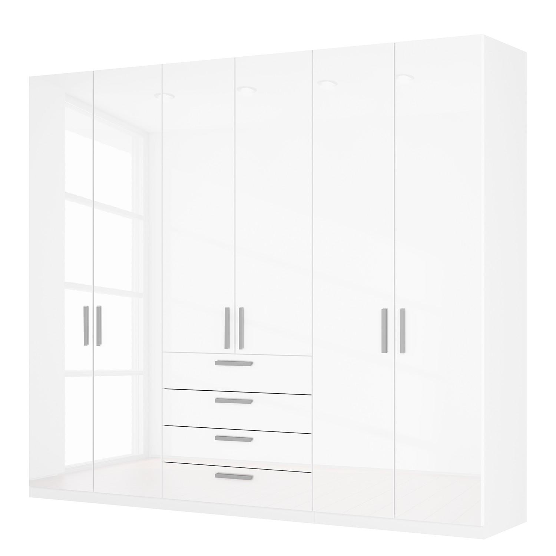 Drehtürenschrank SKØP II - Hochglanz Weiß - 270 cm (6-türig) - 236 cm - Comfort, SKØP