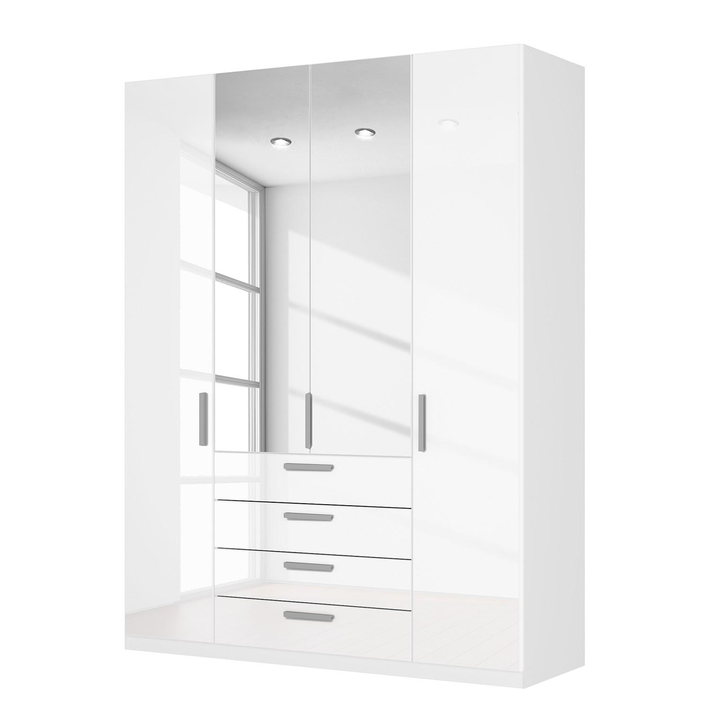 Drehtürenschrank SKØP II – Hochglanz Weiß/ Kristallspiegel – 181 cm (4-türig) – 236 cm – Premium, SKØP jetzt bestellen
