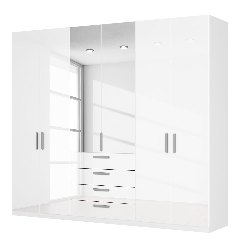 Drehtürenschrank SKØP II – Hochglanz Weiß/ Kristallspiegel – 270 cm (6-türig) – 236 cm – Classic, SKØP günstig