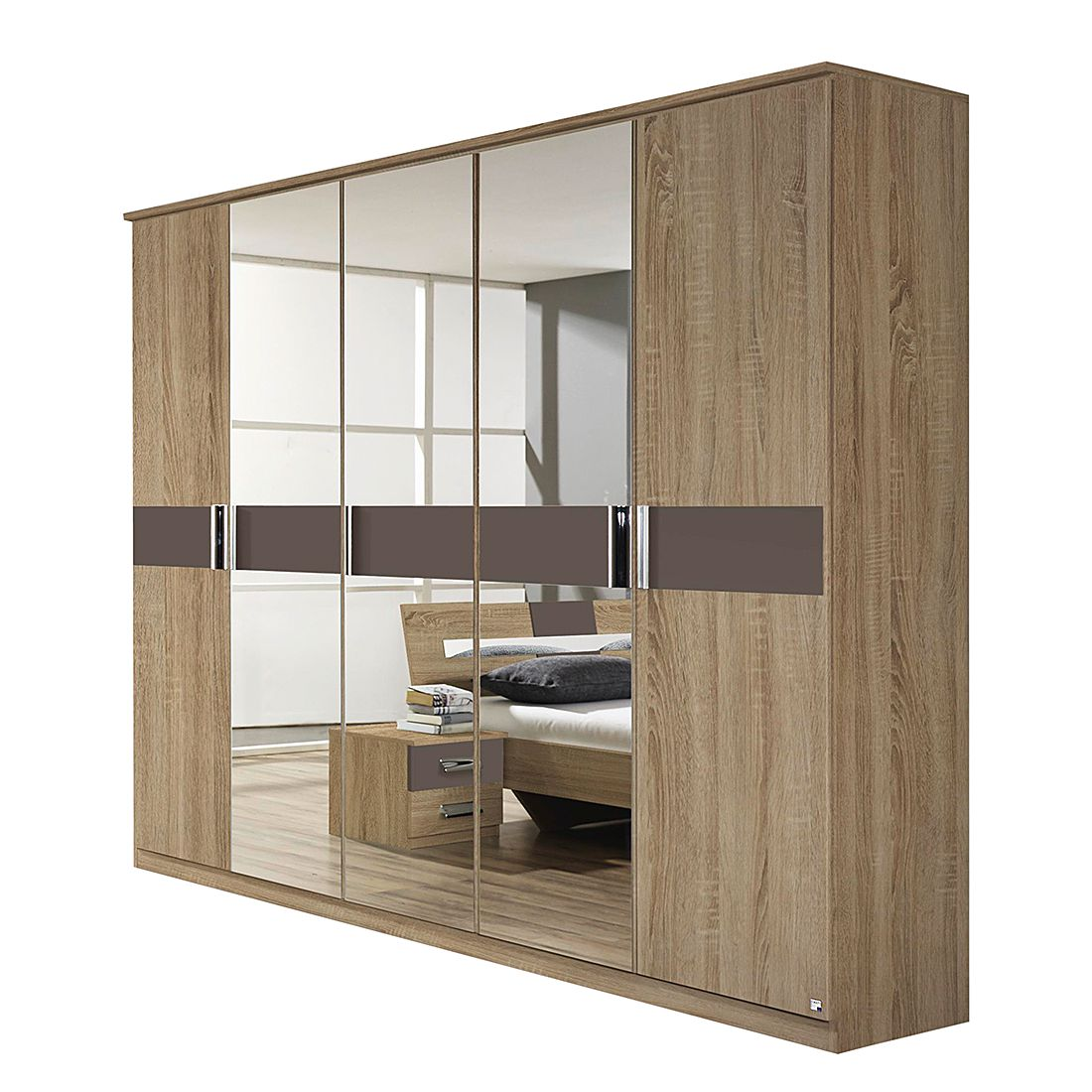 dreht renschrank sonoma eiche sonoma lavagrau 271cm breit. Black Bedroom Furniture Sets. Home Design Ideas
