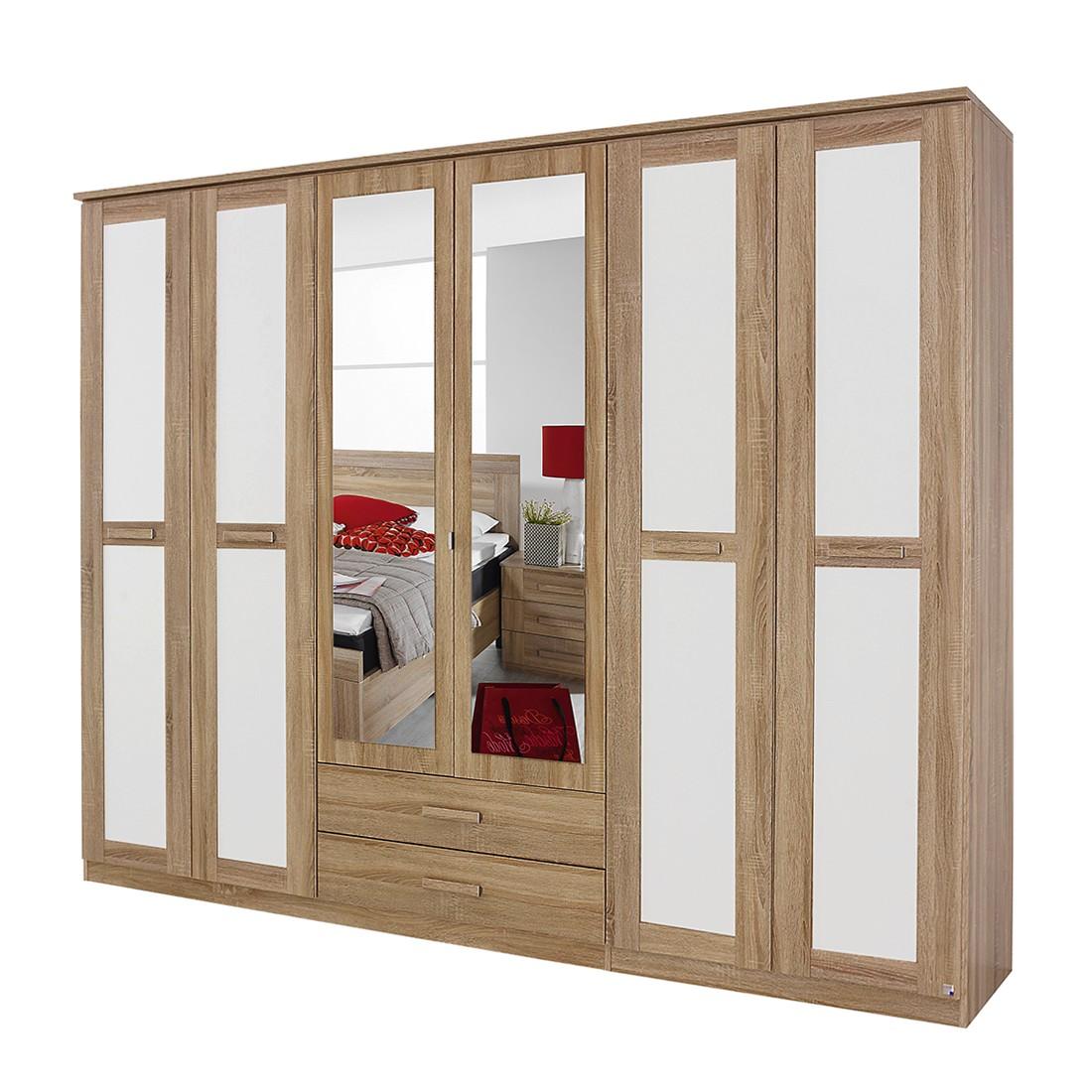 dreht renschrank utrecht ii eiche sonoma dekor alpinwei spiegel schrankbreite 181 cm 4. Black Bedroom Furniture Sets. Home Design Ideas