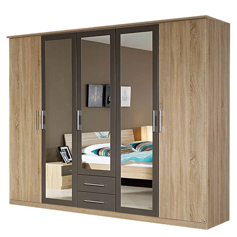 dreht renschrank valence extra eiche sonoma lavagrau 226cm breit 3 spiegelt ren schrank. Black Bedroom Furniture Sets. Home Design Ideas