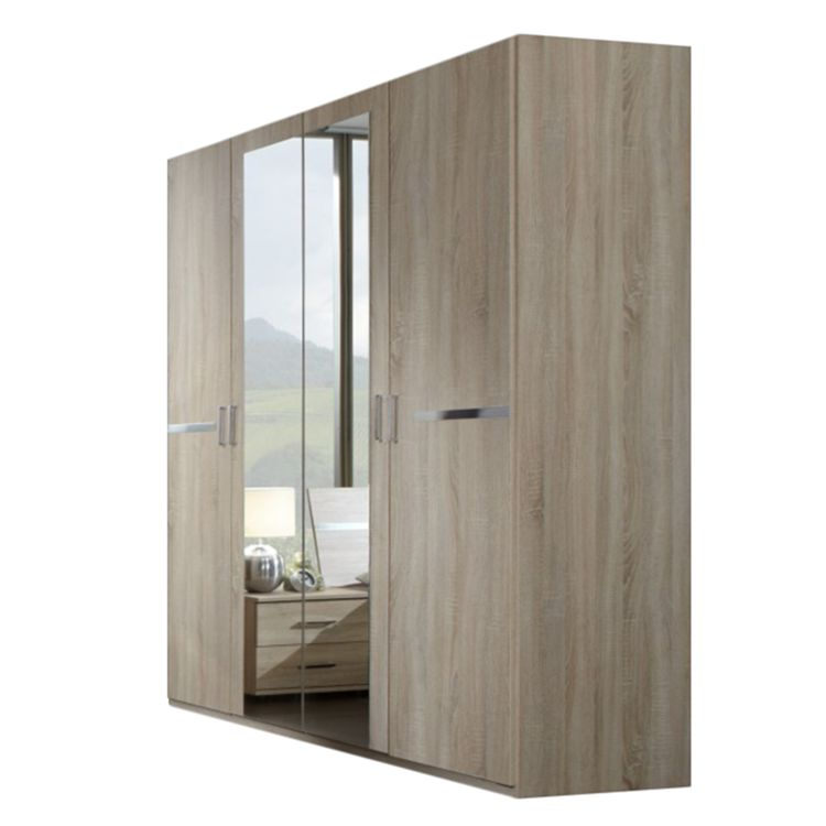 dreht renschrank yukon eiche s gerau dekor schrankbreite 180 cm 4 t rig 2 spiegel. Black Bedroom Furniture Sets. Home Design Ideas
