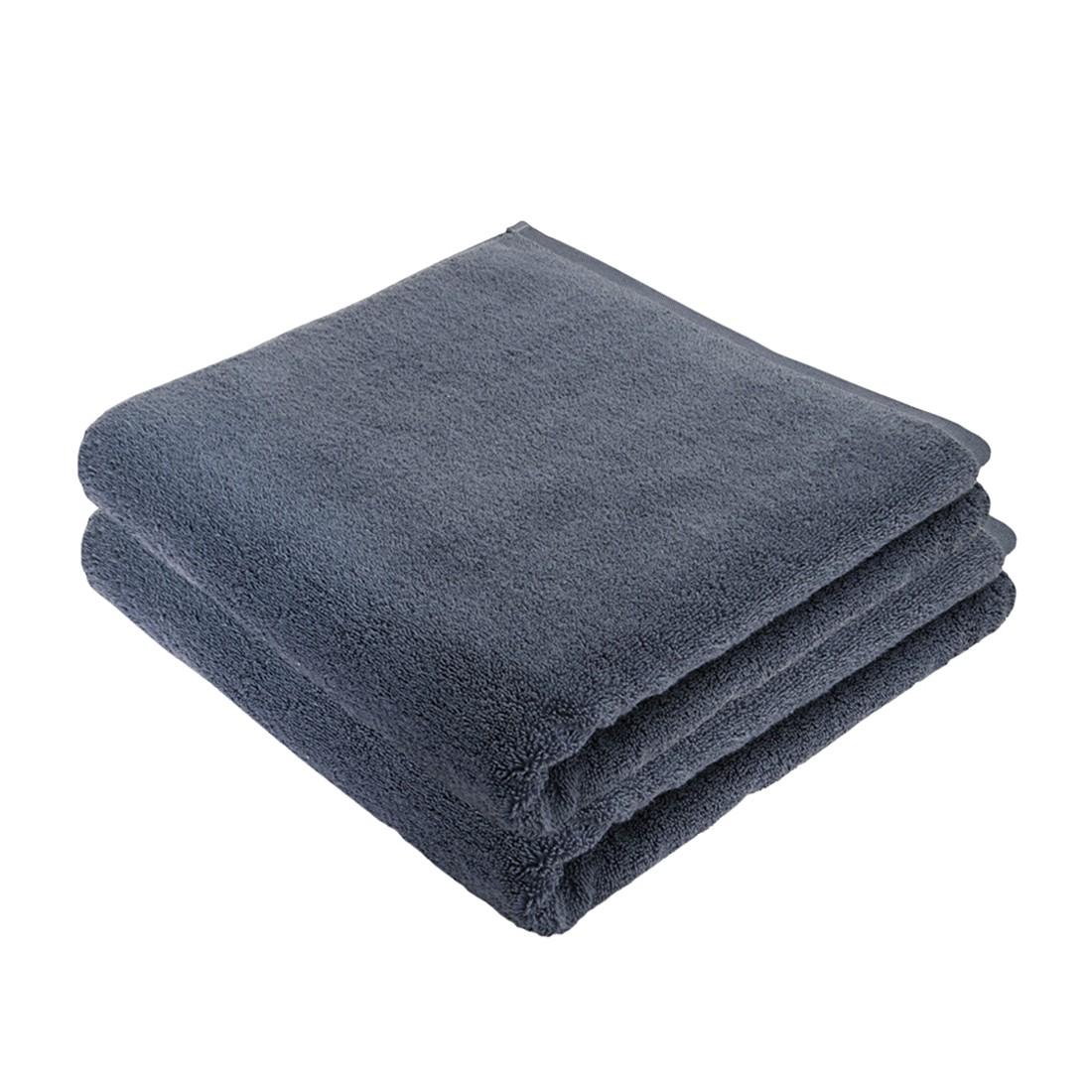 Duschtuch PURE (2er-Set) – 100% Baumwolle – Blaugrau, stilana jetzt bestellen