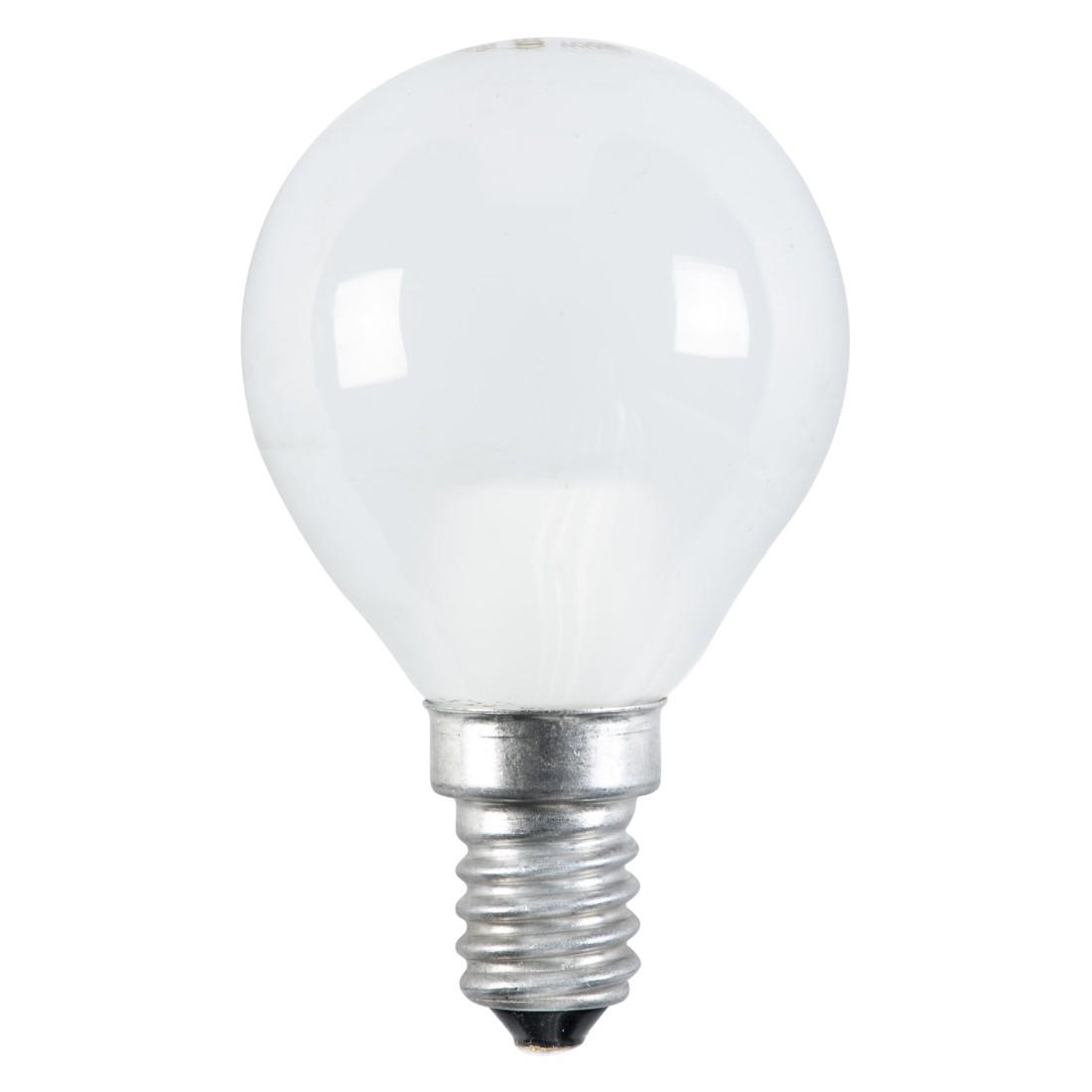 Energiesparlampe E14 7 W Tropfen ● Glas Weiß- Mega Licht