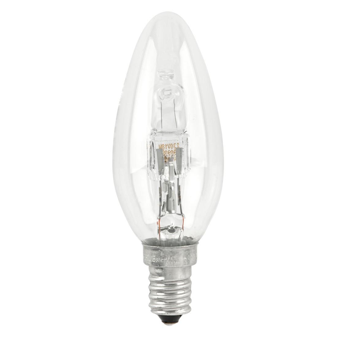 Halogen-Retrofitlampe E14 18 W Kerze klar ● Klarglas Klar- Mega Licht