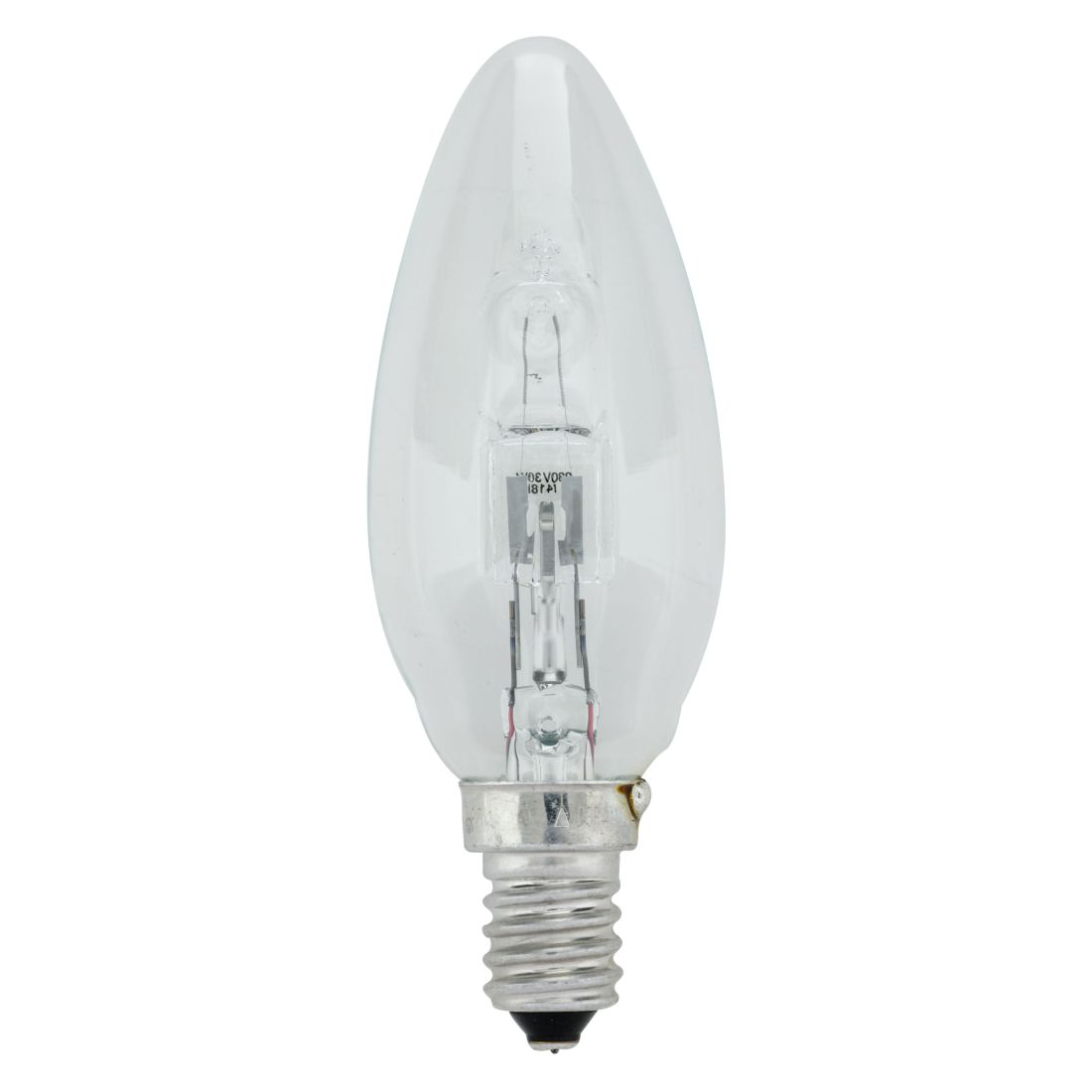 Halogen-Retrofitlampe E14 28 W Kerze klar ● Glas Klar- Mega Licht