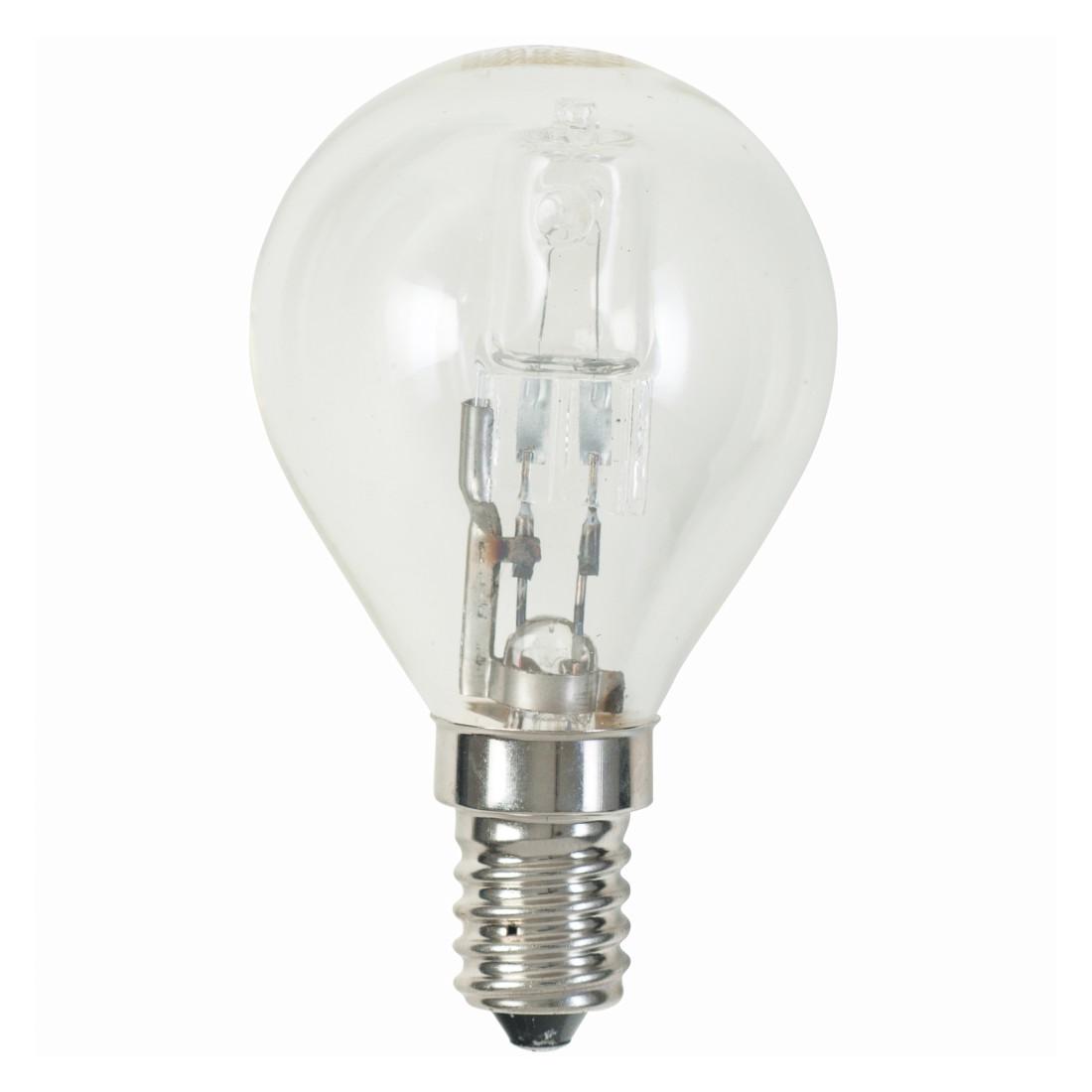 Halogen-Retrofitlampe E14 28 W Tropfen klar ● Klarglas Klar- Stiletto Design Vertreib