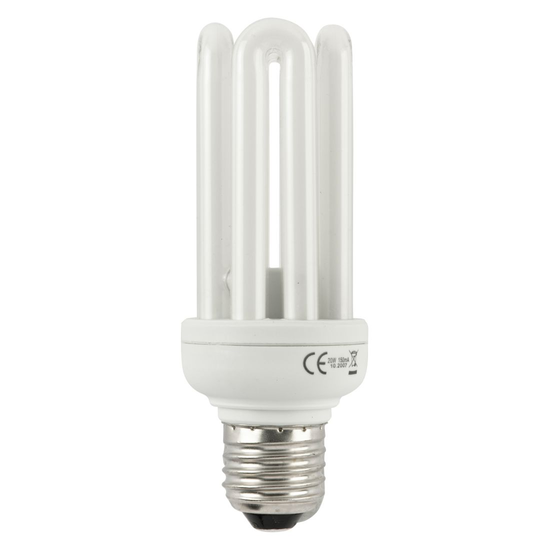 Energiesparlampe E27 20 W Spirale ● Glas Weiß- ikarus