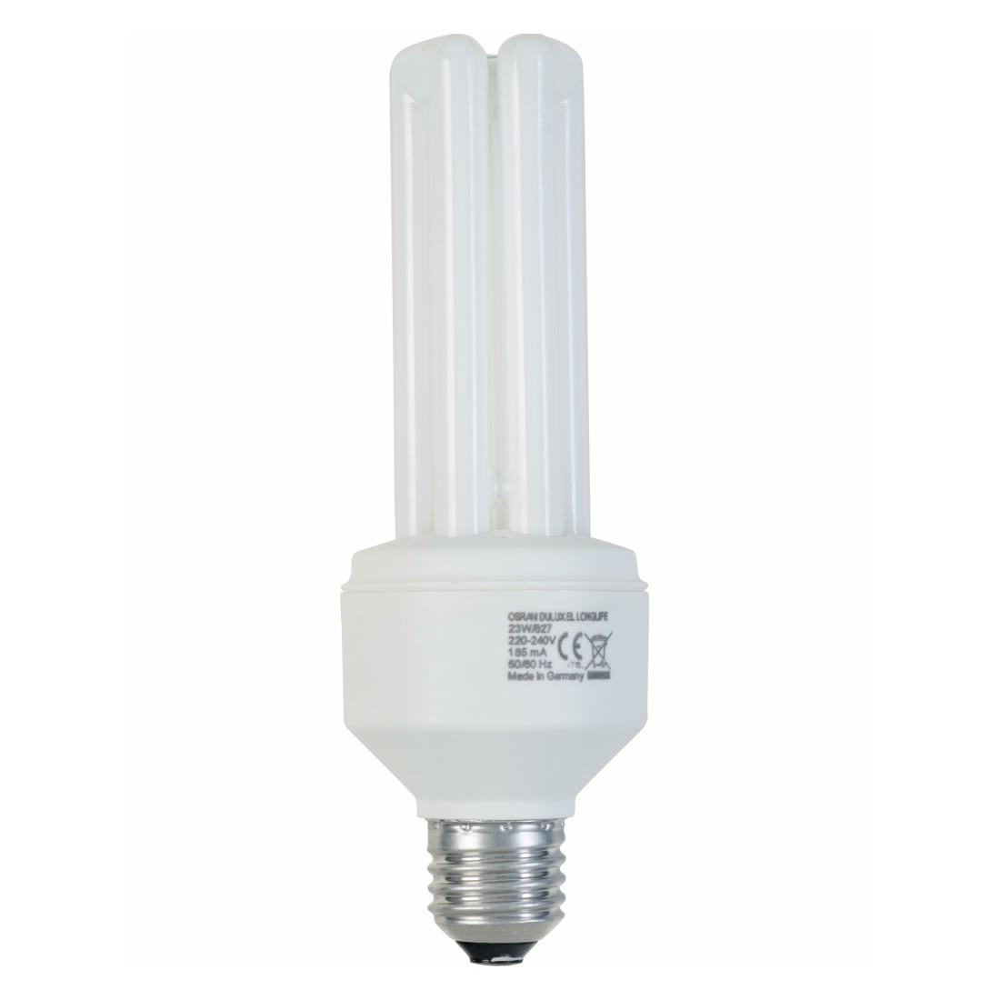 Energiesparlampe E27 23 W Spirale ● Glas Weiß- Mega Licht