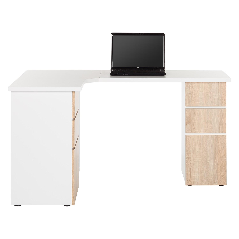 Schreibtisch samiera icy eiche b rotisch arbeitstisch for Schreibtisch eiche dekor