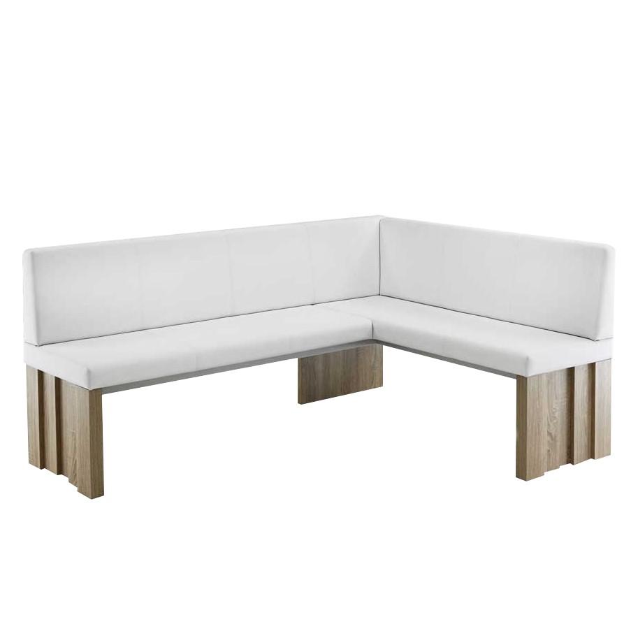 Eckbank Acsandrio – Weiß/Eiche Dekor – Kunstleder/Holzwerkstoff, Tollhaus bestellen