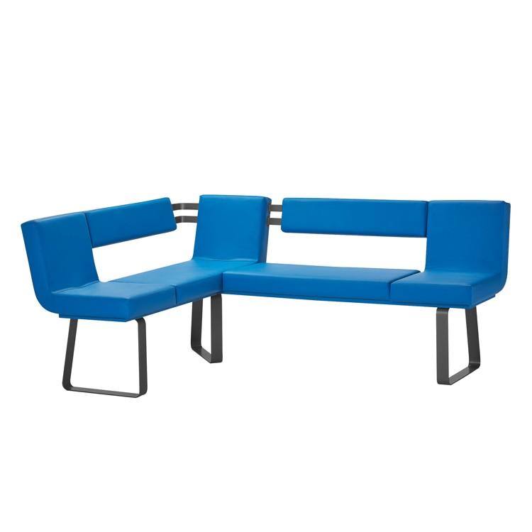 Eckbank Lamar – Blau / Schwarz, loftscape günstig kaufen