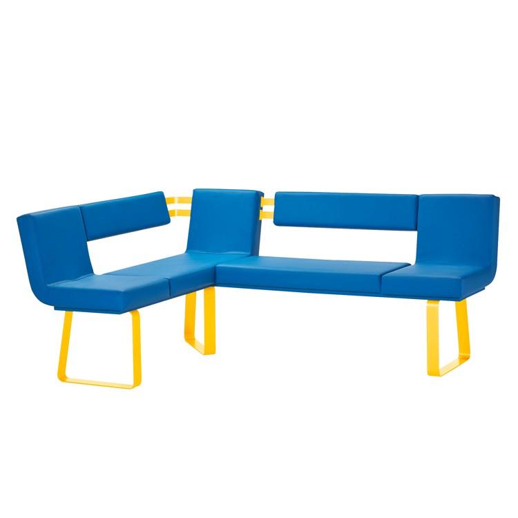 eckbank lamar gelb blau loftscape m sw 000064. Black Bedroom Furniture Sets. Home Design Ideas